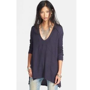 Free People WTF Sunset Park Thermal Navy XS